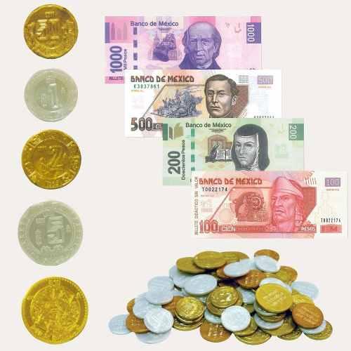 Billetes Y Monedas Estuche De Plástico, Material Didáctico