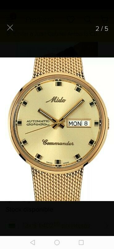 Reloj marca Mido commander