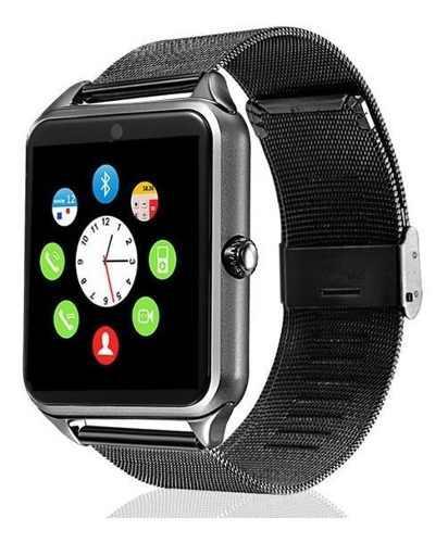 Smartwatch Reloj Inteligente Bluetooth Chip Sim Z60 Metalico