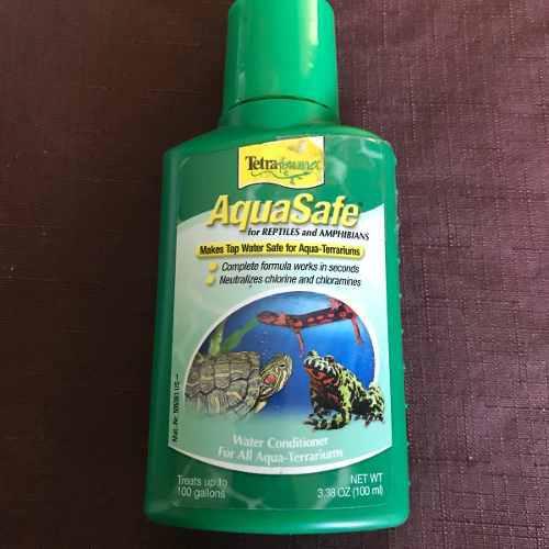 Acondicionador De Agua Para Salamandras Reptiles Y Anfibios