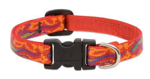 Lupine 1/2 Inch Go Go Gecko Adjustable Dog Collar For Small