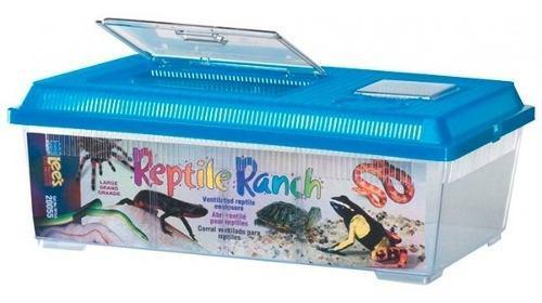 Terrario Rancho Accesorios Portatil Chico Reptiles