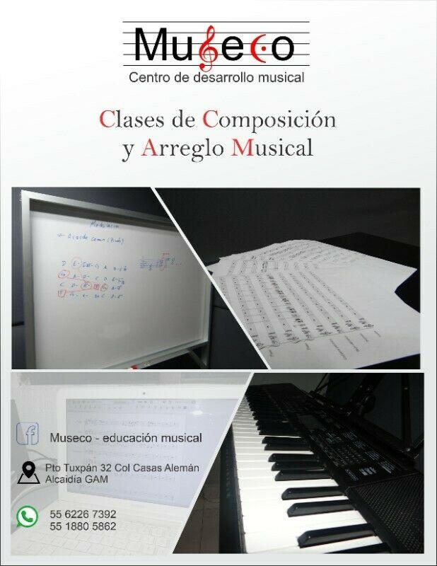 clases de composición y arreglo musical