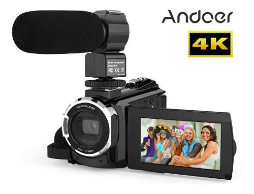 Andoer 4k p 48mp Wifi Cámara De Vídeo Digital