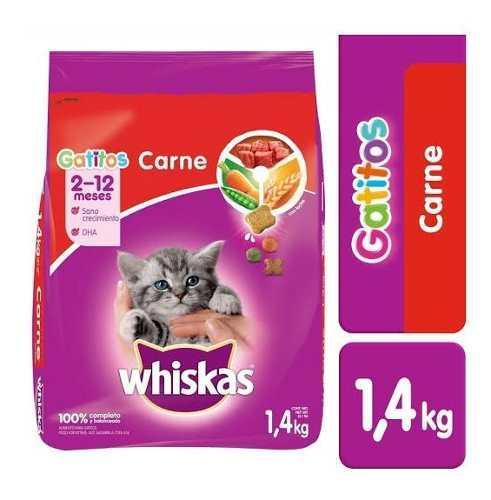Alimento Para Gato Whiskas Gatitos Carne Res 1.4 Kg