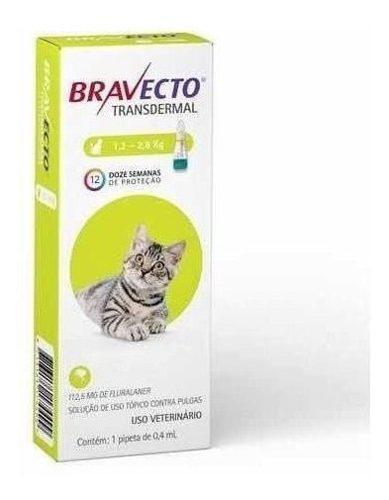 Bravecto. Pipeta Anti Pulgas Y Garrapatas Para Gato 1.3a 2.8