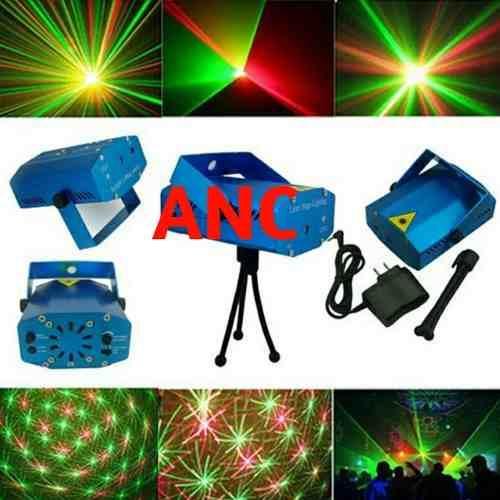 Laser Multipuntos Mini Proyector Bicolor Rojo Y Verde Dj