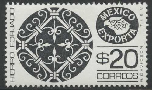 Mexico Serie Exporta $20 Hierro Placa Grande 37.5mm Tipo 5 R