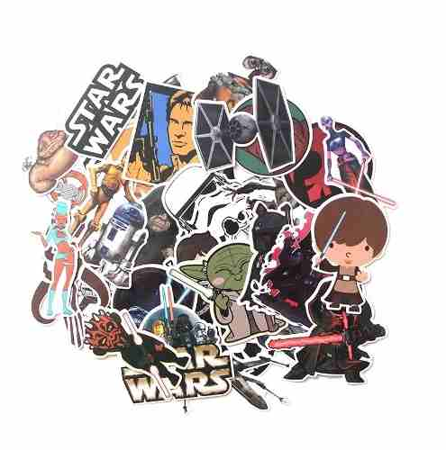 Set 36 Stickers Calcomanias Star Wars Darth Vader Dark Side