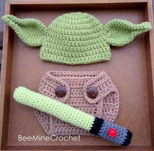 Set Yoda Star Wars Tejido Crochet