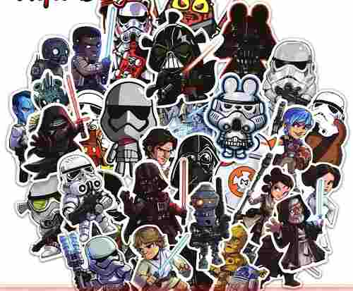 Star Wars 100 Calcomanias Stickers Pvc Contra Agua