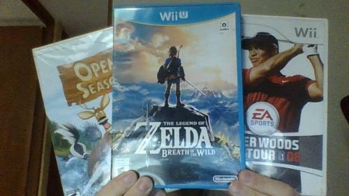 Tloz Breath Of The Wild (wii U) + 2 Juegos De Wii