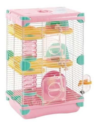 Jaula Para Hamster Con Rueda + Bebedero 27.7 X 20.5 X 42.5cm