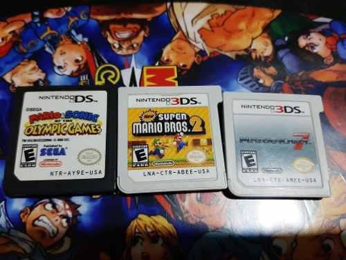 Lote De Juegos Mario Kart 7 3ds Súper Mario Bros 2 Nintendo