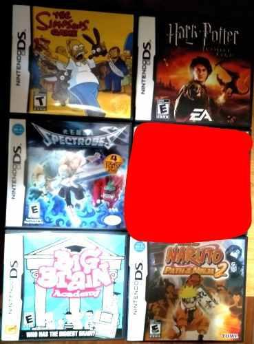 Pack 5 Juegos De Nintendo Ds Lite Spectrobes, Naruto Y Más.