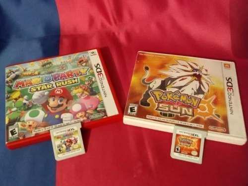 Par De Juegos Pokémon Sun Y Mario Party Star Rush