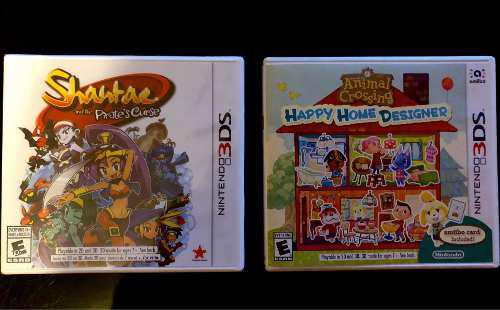 Shantae, Animal Crossing 3ds Pack Juegos 3ds