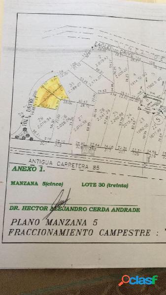 Terreno habitacional en venta en Monte Real, Montemorelos,