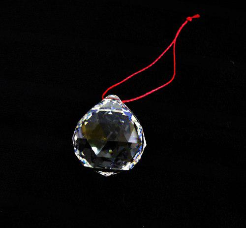 2 Esferas Feng Shui 3 X 3.7 Cm De Cristal Cortado Fino