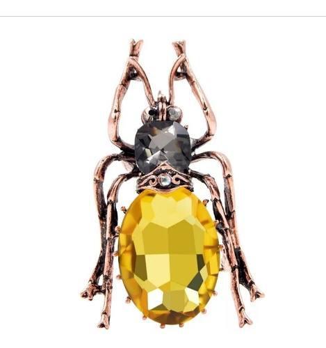 Broche De Vidrio Insecto Araña, Joyería De Moda, Mujer