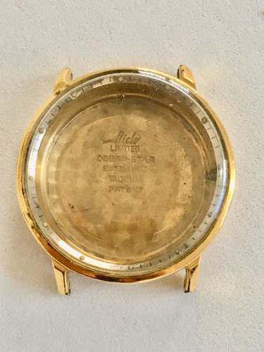 Caja Chapa De Oro De Reloj Mido