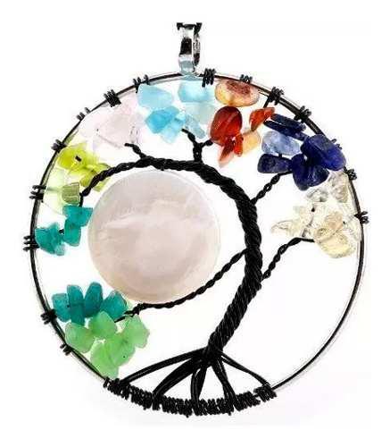 Collar 7 Chakras Arbol De Vida Cuarzo Mandala Yoga Medita
