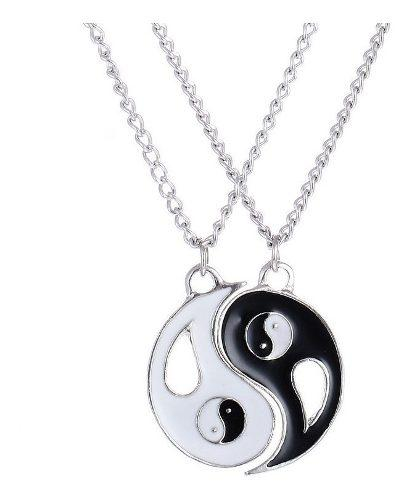 Collar Pareja Yin Yang Amigos Calicad Acero Novios Amor