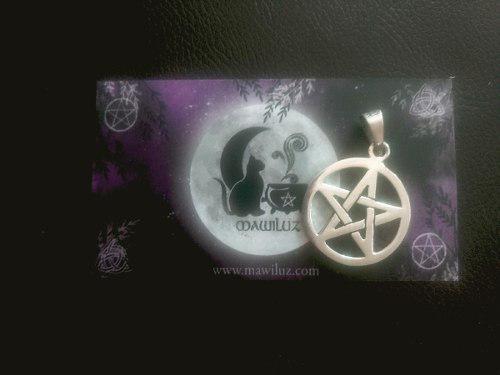Dije Plata Pentagrama Mawiluz Wicca Celta Bruja