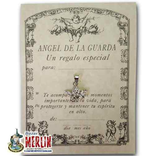 Dije Protector Ángel De La Guarda - Baño De Plata