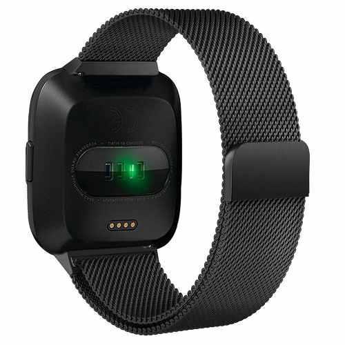 Malla Para Reloj Pulsera Fitbit Versa 22 Cm Acero Inoxidable