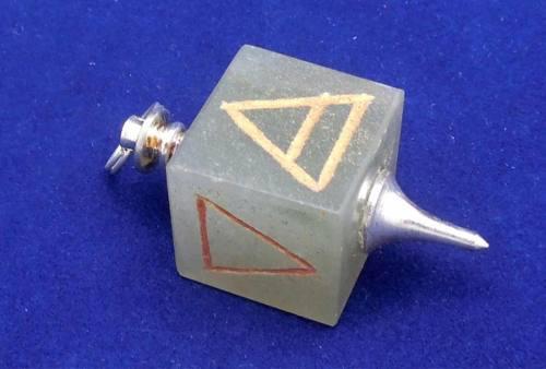 Pendulo Cubo Símbolos De Los 4 Elementos Aventurina