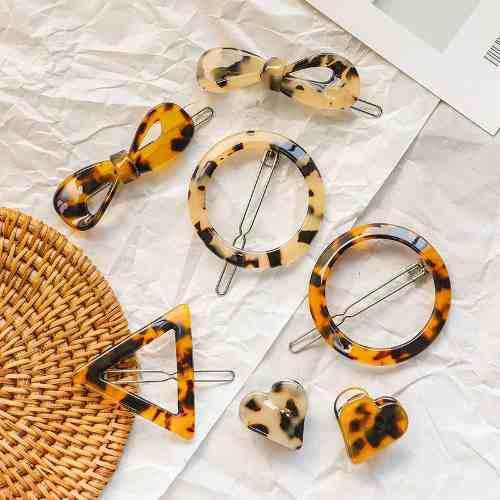 Pinzas Para El Cabello De Estilo Simple Retro Leopardo