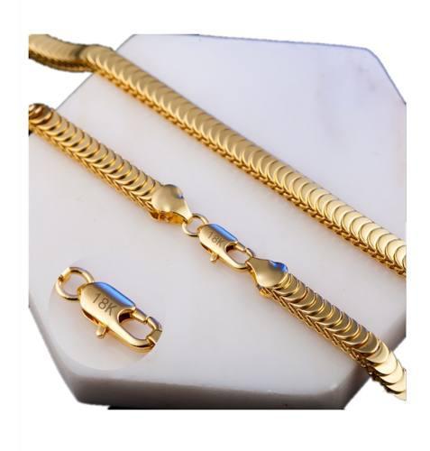 Pulsera Serpiente De Oro Amarillo De 18 Quilates Para Hombre