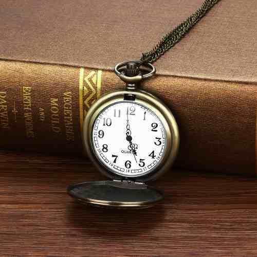 Vintage Cadena Retro El Mayor Reloj De Bolsillo Collar Para