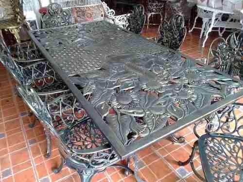 Comedor De Aluminio 8 Sillas Y 1 Mesa De Jardín-diego