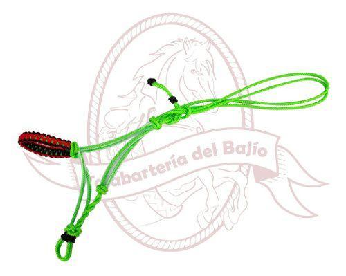 Gamarra Bozal Con Manguera Para Caballo Verde