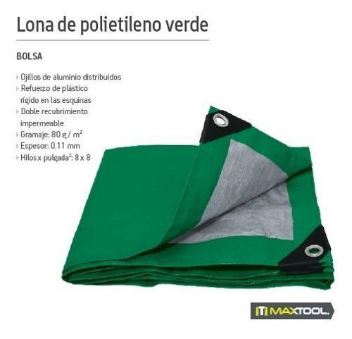 Lona De Polietileno Color Verde 4m X 5m