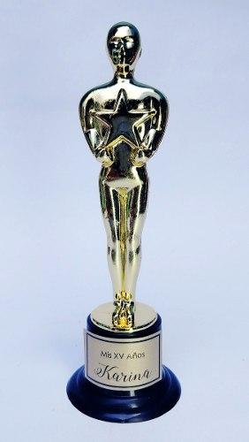 Premio Trofeo Oscar 15cm Personalizado Hollywood Graduacion