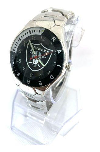 Reloj Deportivo Raiders De Oakland De Colección Modf5 Acero