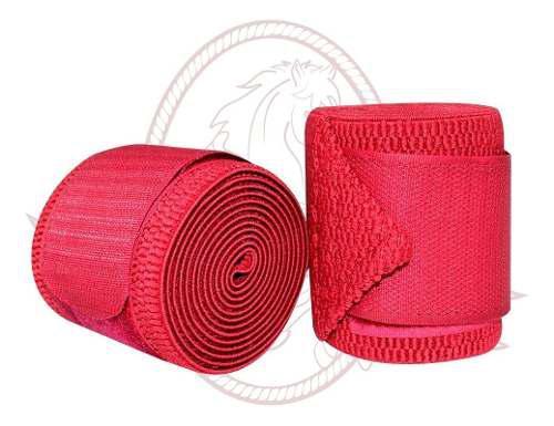 Vendas Para Caballo Elásticas De Trabajo 2 Piezas Rojo