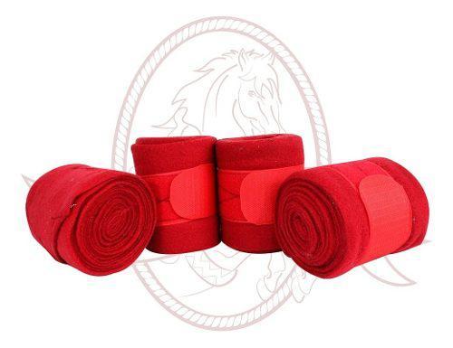 Vendas Para Caballo Finas 4 Piezas Rojo