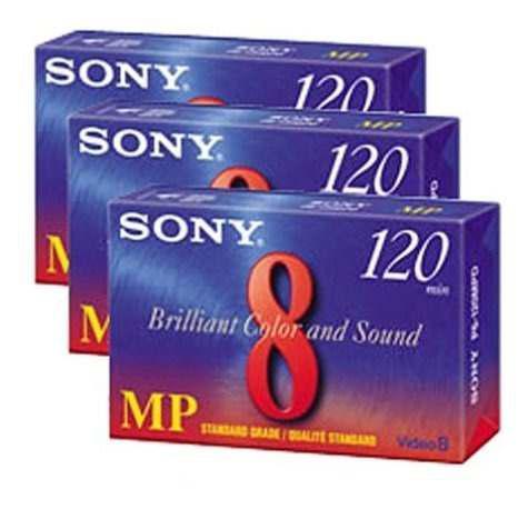 Casetes De La Videocámara Sony De 120 Minutos 3 Paquetes De