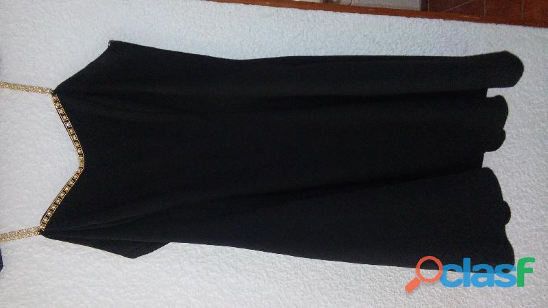 vestidos de noche, color negro, tallas mediana y grande,