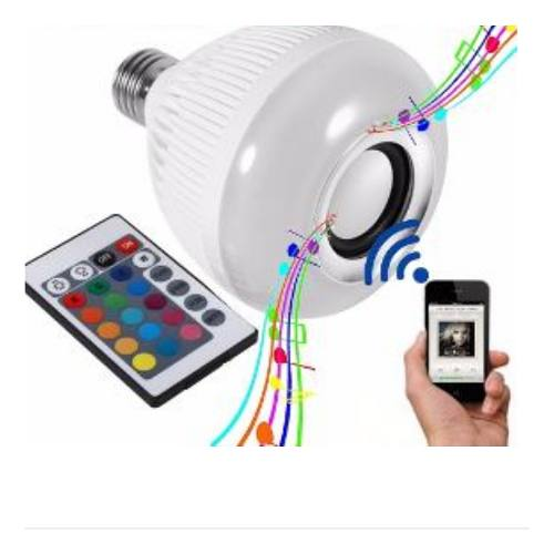 Foco Bocina Led, Bluetooth Multicolor Led Envio Gratis