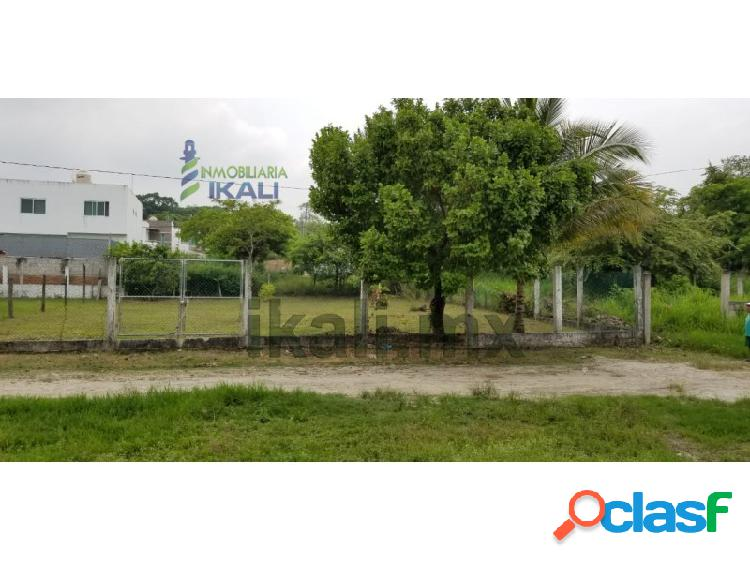 Venta terreno 500 m² Col.Campestre Alborada Tuxpan