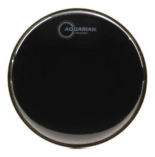 Parche De Batería 10 Aquarian Reflector 2 Capas Negro Ref10