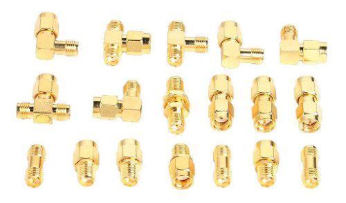 18pcs Sma Kits Conector Macho Hembra Enchufe Antena Kit