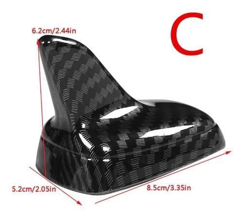 Antena Aleta De Tiburon Decorativa Fibra De Carbono Tipo Vw