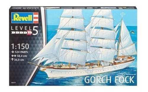 Barco De Velas Gorch Fock Escala 1/150 Revell 5417