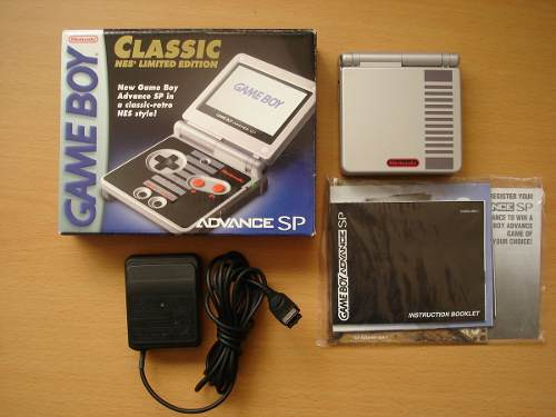 ** Consola Game Boy Advance Sp Edicion Classic Nes Doble Luz
